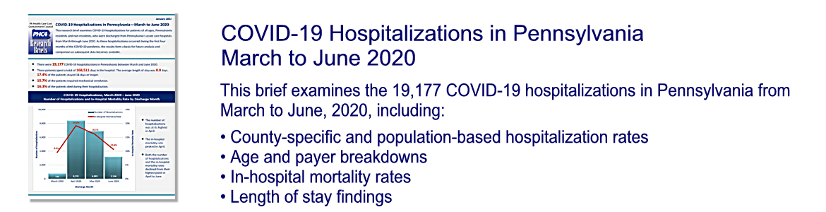 COVID-19 Hospitalizations in Pennsylvania – March to June 2020