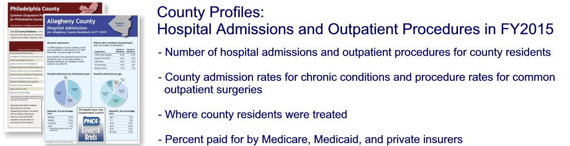 County Profiles - Hospital Admissions and Outpatient Procedures in FY2015