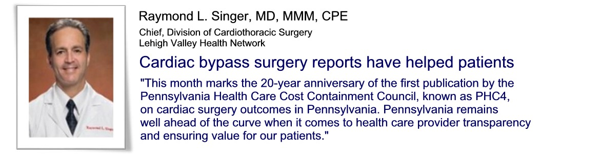 Raymond L. Singer: Cardiac bypass surgery report cards have helped patients
