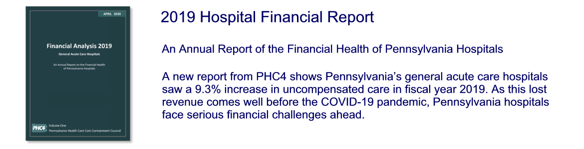 Financial Report 2019, Volume One - General Acute Care Facilities