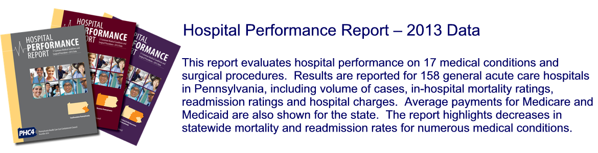 Hospital Performance Report - 2013 Data
