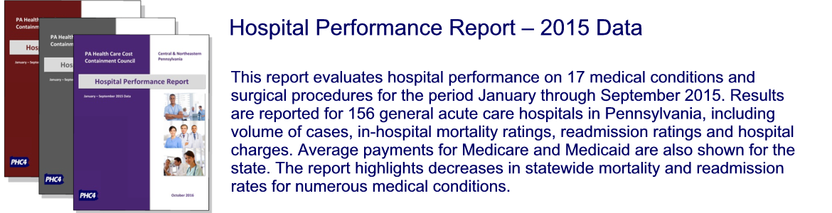 Hospital Performance Report - 2014 Data