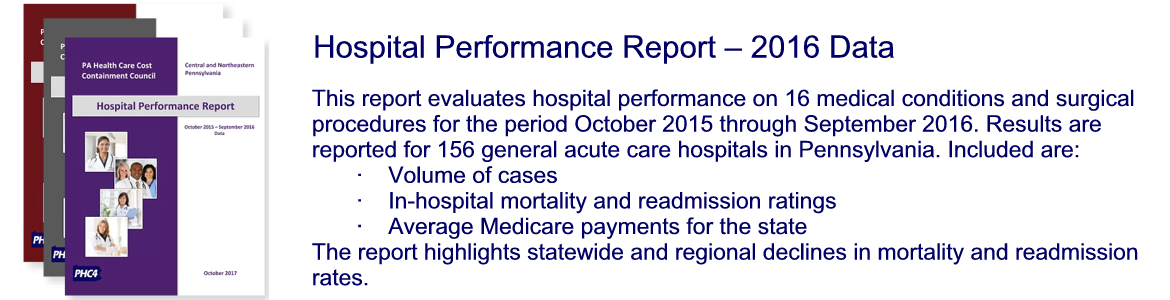 Hospital Performance Report - 2016 Data