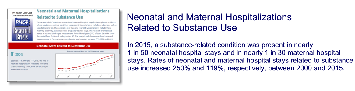 Neonatal and Maternal Hospitalizations Related to Substance Use