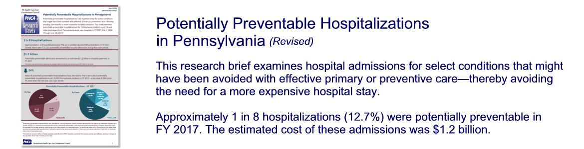 Potentially Preventable Hospitalizations in Pennsylvania