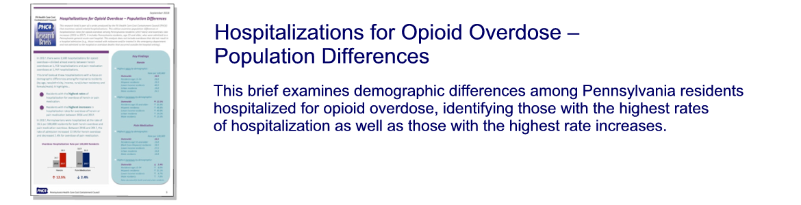 Hospitalizations for Opioid Overdose – Population Differences