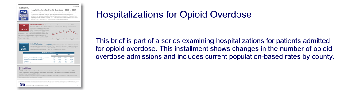 Hospitalizations for Opioid Overdose – 2016 to 2017