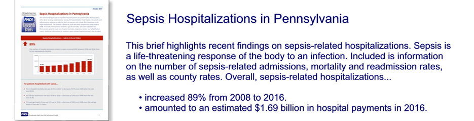 Sepsis Hospitalizations in Pennsylvania